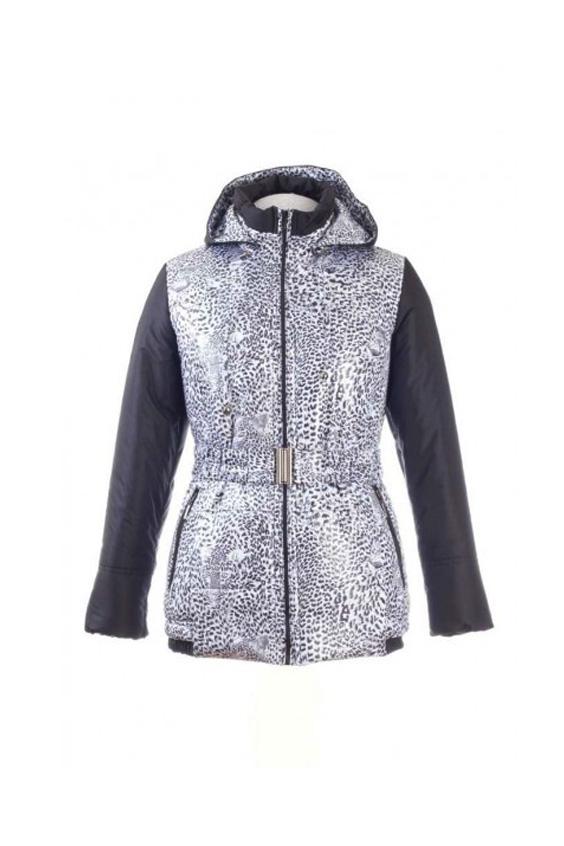 КурткаКуртки<br>Куртка женская, утепленная, комбинированная. Силуэт полуприлегающий с отстегивающимся капюшоном без меха. На переде и спинке рельефы, горизонтальные строчки. По низу спинки и боковой части переда деталь с резинкой. Низ рукава с трикотажной манжетой. Боковые карманы на молнии с ветровым клапаном. Пояс в комплект не входит  Цвет: серый, белый  Силуэт: полуприлегающий Длина по спинке:  70 см Застёжка: на молнию Пояс: с резинкой Капюшон: отстегивающийся  Ростовка 164 см.<br><br>Воротник: Стойка<br>Застежка: С молнией<br>По рисунку: Леопард,С принтом,Цветные,Животные мотивы<br>По сезону: Весна,Осень<br>По силуэту: Полуприталенные<br>По стилю: Повседневный стиль<br>По элементам: С капюшоном,С карманами<br>Рукав: Длинный рукав<br>По длине: Короткие<br>По материалу: Плащевая ткань<br>Размер : 46,48,52<br>Материал: Болонья<br>Количество в наличии: 3