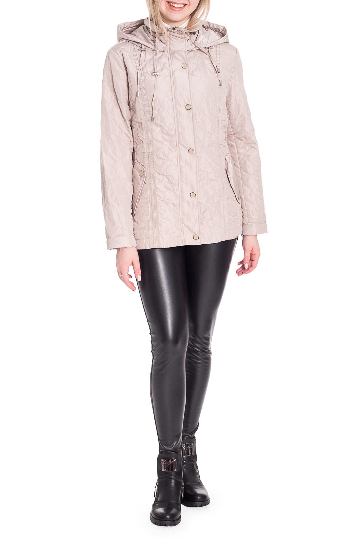 КурткаКуртки<br>Однотонная куртка с капюшоном с застежкой на молнию и кнопки. Модель выполнена из плотного материала. Отличный выбор для любого случая. Куртка с подкладом.  Цвет: бежевый  Рост девушки-фотомодели 170 см<br><br>Воротник: Стойка<br>Застежка: С кнопками,С молнией<br>По длине: Средней длины<br>По материалу: Плащевая ткань<br>По рисунку: Однотонные,Фактурный рисунок<br>По силуэту: Полуприталенные<br>По стилю: Повседневный стиль<br>По элементам: С капюшоном,С карманами<br>Рукав: Длинный рукав<br>По сезону: Осень,Весна<br>Размер : 46,56<br>Материал: Болонья<br>Количество в наличии: 2