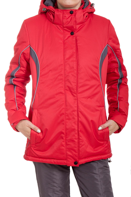 КурткаКуртки<br>Яркая куртка в спортивном стиле. Модель выполнена из плотной болоньи. Отличный выбор для занятий спортом или активного отдыха.  В изделии использованы цвета: красный, серый  Ростовка изделия 170 см.<br><br>Воротник: Стойка<br>Застежка: С кнопками,С молнией<br>По длине: Средней длины<br>По материалу: Тканевые<br>По рисунку: Цветные<br>По силуэту: Полуприталенные<br>По стилю: Спортивный стиль<br>По элементам: С капюшоном,С карманами<br>Рукав: Длинный рукав<br>По сезону: Осень,Весна<br>Размер : 42,44,46,48,50<br>Материал: Болонья<br>Количество в наличии: 5