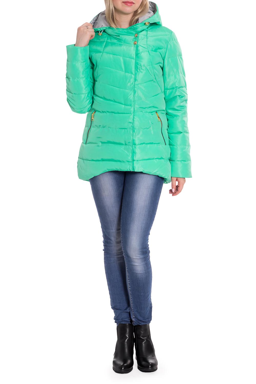 КурткаКуртки<br>Однотонная куртка с длинными рукавами, фигурным подолом и капюшоном. Модель выполнена из плотной болоньи. Отличный выбор для повседневного гардероба.  В изделии использованы цвета: мятный  Рост девушки-фотомодели 170 см.<br><br>Застежка: С кнопками,С молнией<br>По длине: Короткие<br>По материалу: Плащевая ткань<br>По рисунку: Однотонные<br>По силуэту: Полуприталенные<br>По стилю: Кэжуал,Молодежный стиль,Повседневный стиль,Спортивный стиль<br>По элементам: С капюшоном,С карманами,С отделочной фурнитурой,С фигурным низом<br>Рукав: Длинный рукав<br>По сезону: Осень,Весна<br>Размер : 42,44,46,48,50<br>Материал: Болонья<br>Количество в наличии: 5