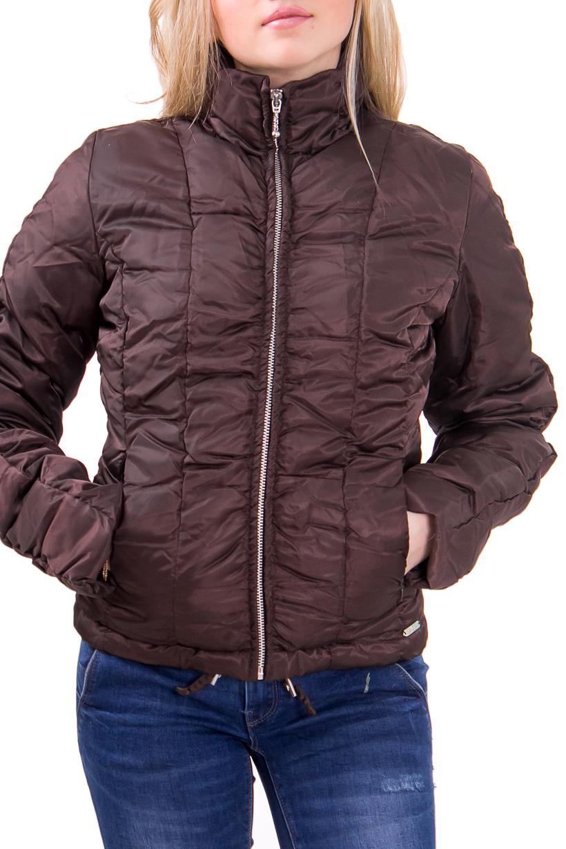 КурткаКуртки<br>Женская куртка полуприталенного силуэта. Модель выполнена из однотонной болоньевой ткани. Отличный вариант для повседневного гардероба  Цвет: коричневый  Фурнитура: молнии  Рост девушки-фотомодели 164 см<br><br>Воротник: Стойка<br>По длине: Короткие<br>По материалу: Плащевая ткань<br>По рисунку: Однотонные<br>По сезону: Весна,Осень<br>По форме: Кожаная куртка<br>По элементам: С декором,С карманами<br>Рукав: Длинный рукав<br>По силуэту: Полуприталенные<br>По стилю: Молодежный стиль,Повседневный стиль<br>Застежка: С молнией<br>Размер : 42<br>Материал: Болонья<br>Количество в наличии: 1