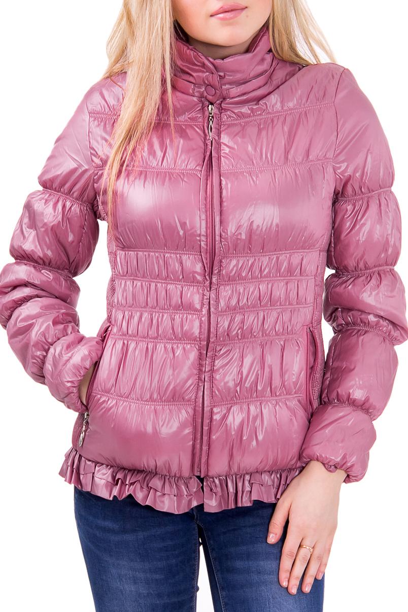 КурткаКуртки<br>Женская куртка полуприталенного силуэта. Модель выполнена из однотонной болоньевой ткани. Отличный вариант для повседневного гардероба  Цвет: коричневый  Фурнитура: молнии  Рост девушки-фотомодели 164 см<br><br>Воротник: Стойка<br>По длине: Короткие<br>По материалу: Плащевая ткань<br>По рисунку: Однотонные<br>По силуэту: Полуприталенные<br>По стилю: Молодежный стиль,Повседневный стиль<br>По элементам: С декором,С карманами,С воланами и рюшами<br>Застежка: С молнией<br>Рукав: Длинный рукав<br>По сезону: Осень,Весна<br>Размер : 44<br>Материал: Болонья<br>Количество в наличии: 1