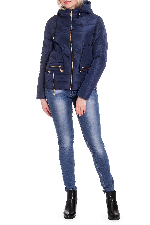 КурткаКуртки<br>Однотонная короткая куртка прямого силуэта с капюшоном. Модель выполнена из плотной болоньи. Отличный выбор для повседневного гардероба.  В изделии использованы цвета: синий  Рост девушки-фотомодели 170 см.<br><br>Воротник: Стойка<br>Застежка: С молнией<br>По длине: Короткие<br>По материалу: Плащевая ткань<br>По рисунку: Однотонные<br>По силуэту: Прямые<br>По стилю: Кэжуал,Молодежный стиль,Повседневный стиль<br>По элементам: С декором,С капюшоном,С карманами,С отделочной фурнитурой<br>Рукав: Длинный рукав<br>По сезону: Осень,Весна<br>Размер : 42,44,46,48,50<br>Материал: Болонья<br>Количество в наличии: 5