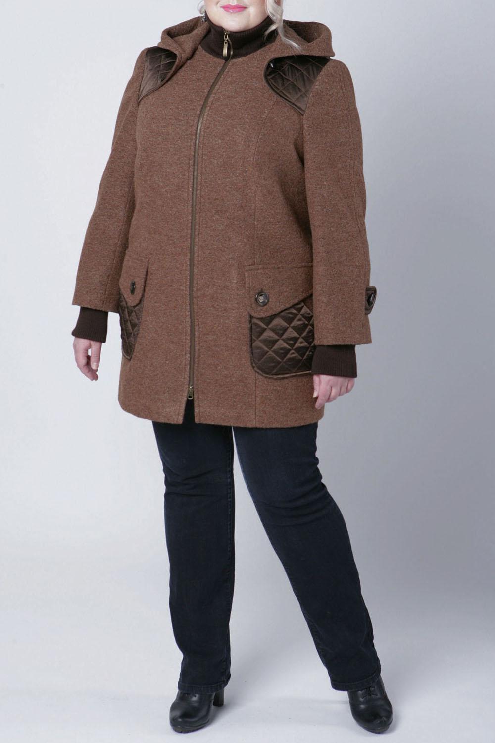 КурткаКуртки<br>Интресная куртка выполнена из пальтовой ткани и фактурной болоньи. Отличный выбор для повседневного гардероба.  Цвет: коричневый  Рост девушки-фотомодели 172 см  Параметры изделия: 68 размер: объем груди 72 см., ширина плеча 14 см., длина рукава 62 см.+10 см. загиб, длина спинки 87 см., объем талии 77 см.<br><br>Воротник: Стойка<br>Застежка: С молнией<br>По материалу: Шерсть<br>По рисунку: Однотонные,Фактурный рисунок<br>По силуэту: Прямые<br>По стилю: Повседневный стиль<br>По элементам: С декором,С капюшоном,С карманами<br>Рукав: Длинный рукав<br>По сезону: Осень,Весна<br>По длине: Средней длины<br>Размер : 50,52,54,56,60,62,66,68<br>Материал: Пальтовая ткань<br>Количество в наличии: 8