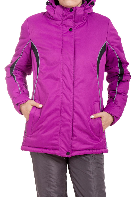 КурткаКуртки<br>Яркая куртка в спортивном стиле. Модель выполнена из плотной болоньи. Отличный выбор для занятий спортом или активного отдыха.  В изделии использованы цвета: фиолетовый, серый, черный  Ростовка изделия 170 см.<br><br>Воротник: Стойка<br>Застежка: С кнопками,С молнией<br>По длине: Средней длины<br>По материалу: Тканевые<br>По образу: Город,Спорт<br>По рисунку: Цветные<br>По силуэту: Полуприталенные<br>По стилю: Спортивный стиль<br>По элементам: С капюшоном,С карманами<br>Рукав: Длинный рукав<br>По сезону: Осень,Весна<br>Размер : 42,44,46,48,50,52<br>Материал: Болонья<br>Количество в наличии: 6