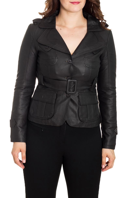 КурткаКуртки<br>Универсальная куртка с застежкой на пуговицы. Модель выполнена из мягкой искусственной кожи. Отличный выбор для повседневного гардероба. Куртка без пояса.  Цвет: черный  Рост девушки-фотомодели 180 см<br><br>Воротник: Отложной<br>Горловина: V- горловина<br>Застежка: С пуговицами<br>По рисунку: Однотонные<br>По силуэту: Полуприталенные<br>По стилю: Байкерский стиль,Повседневный стиль,Готический стиль<br>По форме: Кожаная куртка<br>По элементам: С карманами<br>Рукав: Длинный рукав<br>По сезону: Осень,Весна<br>По длине: Короткие<br>По материалу: Искусственная кожа<br>Размер : 48<br>Материал: Искусственная кожа<br>Количество в наличии: 1