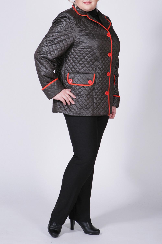 КурткаКуртки<br>Очаровательная куртка с интересным воротником и длинными рукавами. Модель выполнена из фактурной болоньи. Отличный выбор для любого случая.  Цвет: коричневый, красный  Рост девушки-фотомодели 172 см<br><br>Воротник: Отложной<br>Горловина: V- горловина<br>Застежка: С пуговицами<br>По длине: Средней длины<br>По материалу: Плащевая ткань<br>По рисунку: Однотонные<br>По силуэту: Полуприталенные<br>По стилю: Повседневный стиль<br>По форме: Ветровка<br>По элементам: Отделка строчкой,С карманами<br>Рукав: Длинный рукав<br>По сезону: Осень,Весна<br>Размер : 50,52,54,56,58,60<br>Материал: Болонья<br>Количество в наличии: 6