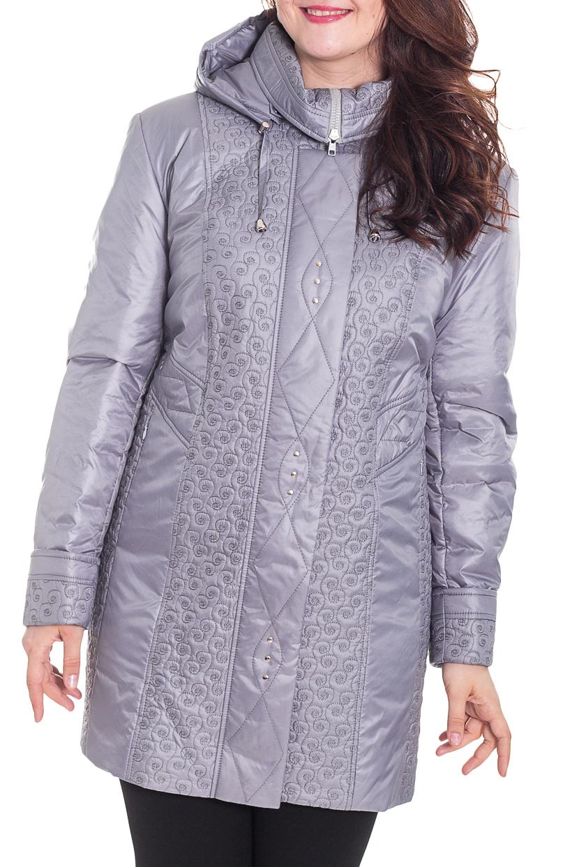 КурткаКуртки<br>Гармоничная женская куртка из болоневого материала. Капюшон, карманы, длинный рукав. Застежка - молния.  Цвет: стальной серый.  Рост девушки-фотомодели 180 см<br><br>Воротник: Стойка<br>Застежка: С молнией<br>По длине: Средней длины<br>По материалу: Плащевая ткань<br>По рисунку: Однотонные<br>По силуэту: Полуприталенные<br>По стилю: Повседневный стиль<br>По элементам: С воротником,С декором,С капюшоном,С карманами,С манжетами,С подкладом<br>Рукав: Длинный рукав<br>По сезону: Осень,Весна<br>Размер : 62,74<br>Материал: Болонья<br>Количество в наличии: 2