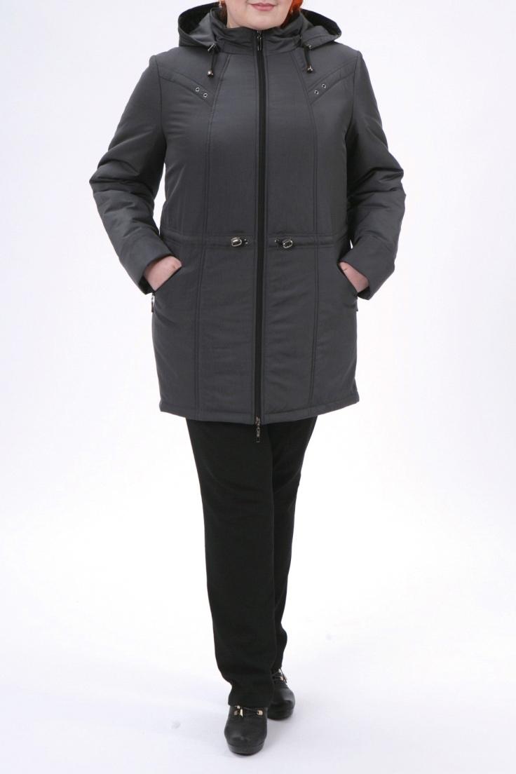 КурткаКуртки<br>Классическая женская куртка с застежкой на молнию и длинными рукавами. Отличный выбор для демисезонного периода.  Цвет: темно-серый  Рост девушки-фотомодели 172 см<br><br>Воротник: Стойка<br>Застежка: С молнией<br>По длине: Средней длины<br>По образу: Город<br>По рисунку: Однотонные<br>По силуэту: Прямые<br>По стилю: Повседневный стиль<br>По элементам: С капюшоном,С карманами,С отделочной фурнитурой<br>Рукав: Длинный рукав<br>По сезону: Осень,Весна<br>Размер : 50,52,54,58,62,66,72,76<br>Материал: Болонья<br>Количество в наличии: 8
