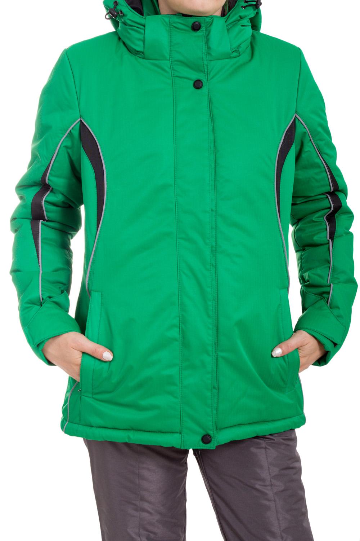 КурткаКуртки<br>Яркая куртка в спортивном стиле. Модель выполнена из плотной болоньи. Отличный выбор для занятий спортом или активного отдыха.  В изделии использованы цвета: зеленый, черный, серый  Ростовка изделия 170 см.<br><br>Воротник: Стойка<br>Застежка: С кнопками,С молнией<br>По длине: Средней длины<br>По материалу: Тканевые<br>По рисунку: Цветные<br>По силуэту: Полуприталенные<br>По стилю: Спортивный стиль<br>По элементам: С капюшоном,С карманами<br>Рукав: Длинный рукав<br>По сезону: Осень,Весна<br>Размер : 42,44,46,48,50,52<br>Материал: Болонья<br>Количество в наличии: 6