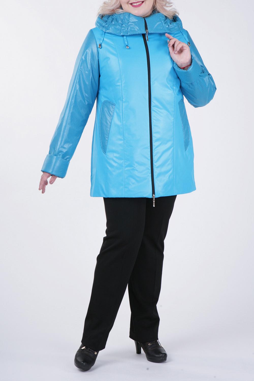 КурткаКуртки<br>Великолепная куртка с застежкой на молнию и длинными рукавами. Отличный выбор для демисезонного периода.  Цвет: голубой  Рост девушки-фотомодели 172 см.<br><br>Застежка: С молнией<br>По длине: Средней длины<br>По материалу: Тканевые<br>По рисунку: Однотонные,Фактурный рисунок<br>По силуэту: Прямые<br>По стилю: Повседневный стиль<br>По элементам: С капюшоном,С карманами<br>Рукав: Длинный рукав<br>По сезону: Осень,Весна<br>Размер : 50,52,54,56,58,68,74,76,78<br>Материал: Болонья<br>Количество в наличии: 9