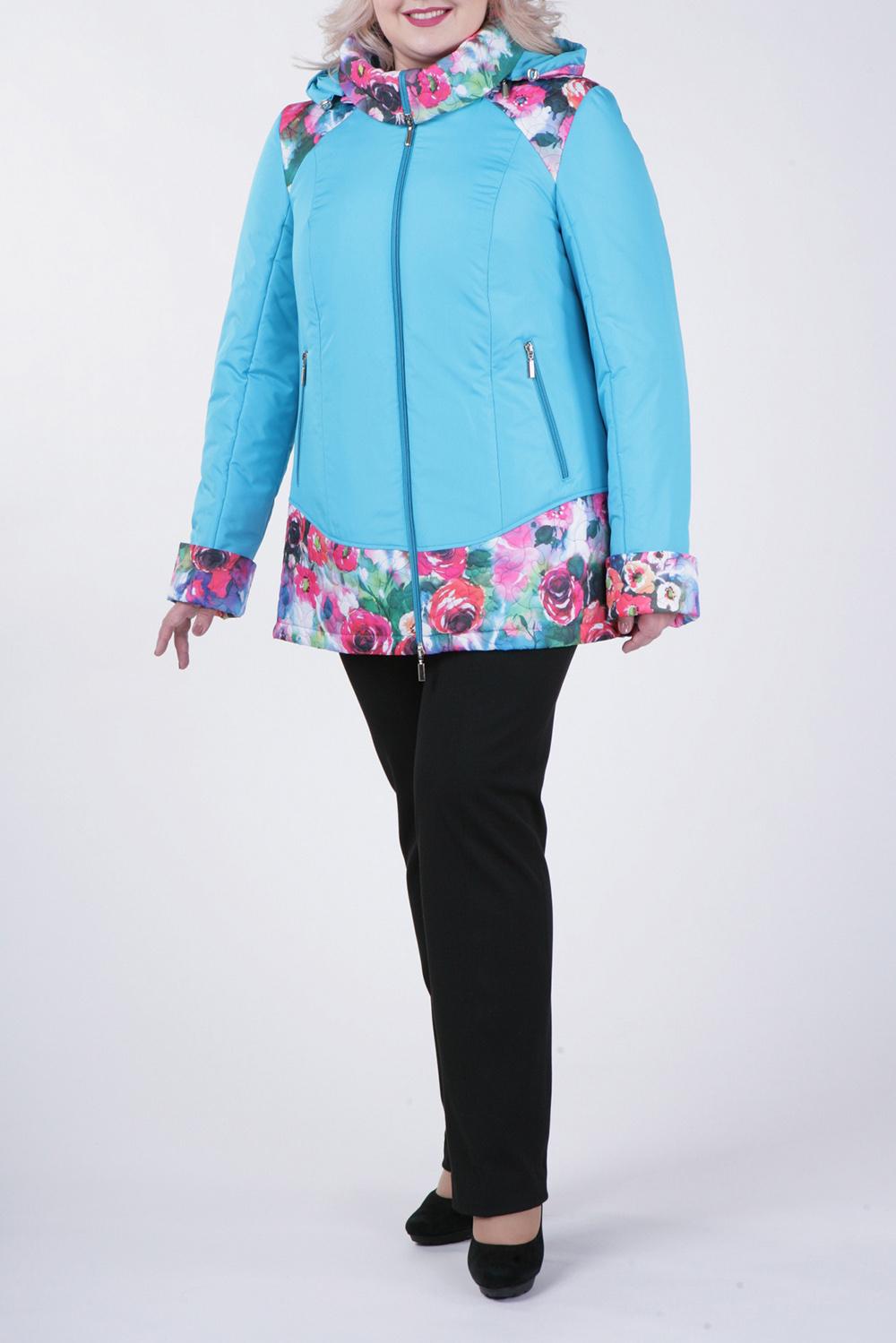 КурткаКуртки<br>Великолепная куртка с застежкой на молнию и длинными рукавами. Отличный выбор для демисезонного периода.  В изделии использованы цвета: голубой, розовый, зеленый  Рост девушки-фотомодели 172 см.<br><br>Застежка: С молнией<br>По длине: Средней длины<br>По материалу: Тканевые<br>По рисунку: Растительные мотивы,С принтом,Цветные,Цветочные<br>По силуэту: Прямые<br>По стилю: Повседневный стиль<br>По элементам: С капюшоном,С карманами<br>Рукав: Длинный рукав<br>По сезону: Осень,Весна<br>Размер : 60,62,64,66,68,74,76,78,80<br>Материал: Болонья<br>Количество в наличии: 9
