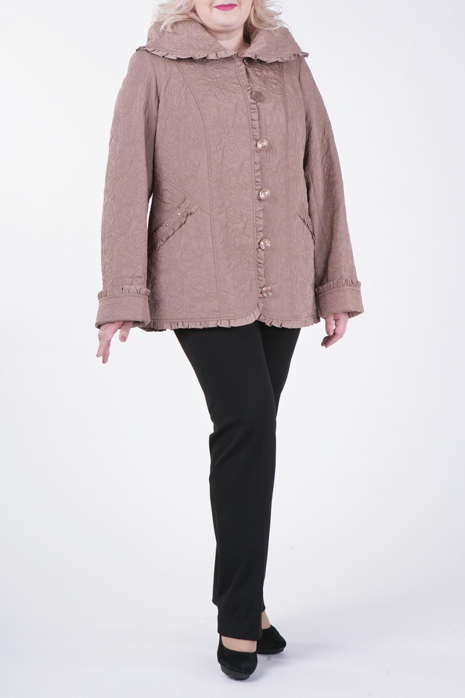 КурткаКуртки<br>Великолепная куртка с застежкой на пуговицы и длинными рукавами. Отличный выбор для демисезонного периода.  Цвет: капучино  Рост девушки-фотомодели 172 см.<br><br>Воротник: Отложной<br>Застежка: С пуговицами<br>По длине: Средней длины<br>По материалу: Тканевые<br>По рисунку: Однотонные,Фактурный рисунок<br>По силуэту: Прямые<br>По стилю: Повседневный стиль<br>По элементам: С воланами и рюшами,С декором,С капюшоном,С карманами<br>Рукав: Длинный рукав<br>По сезону: Осень,Весна<br>Размер : 50,52,56,58,66,68,70,76,78,80<br>Материал: Болонья<br>Количество в наличии: 10