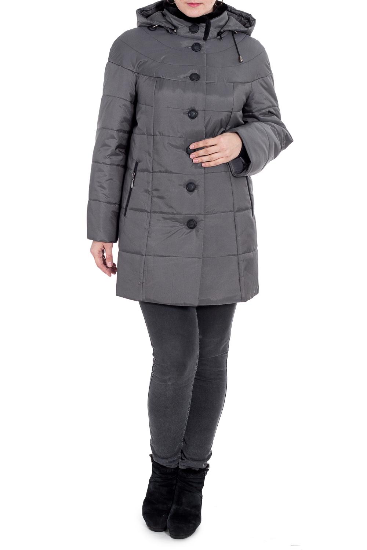 КурткаКуртки<br>Универсальная куртка с капюшоном и застежкой на пуговицы. Отличный выбор для повседневного гардероба.  Подклад - 100% полиэстер, утеплитель Valtherm  Цвет: серый  Рост девушки-фотомодели 180 см.<br><br>Воротник: Стойка<br>Застежка: С пуговицами<br>По длине: Средней длины<br>По рисунку: Однотонные<br>По силуэту: Полуприталенные<br>По стилю: Повседневный стиль<br>По элементам: С капюшоном,С карманами<br>Рукав: Длинный рукав<br>По сезону: Осень,Весна<br>Размер : 58,66,68,72<br>Материал: Болонья<br>Количество в наличии: 4
