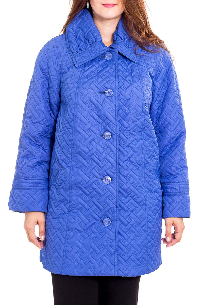 КурткаКуртки<br>Демисезонная куртка с отложным воротником, застежкой на пуговицы. Модель выполнена из плотной плащевой ткани. Отличный выбор для повседневного гардероба.  Цвет: синий  Рост девушки-фотомодели 180 см.<br><br>Воротник: Отложной<br>Застежка: С пуговицами<br>По длине: Средней длины<br>По материалу: Тканевые<br>По рисунку: Однотонные,Фактурный рисунок<br>По силуэту: Полуприталенные<br>По стилю: Повседневный стиль<br>По элементам: С карманами<br>Рукав: Длинный рукав<br>По сезону: Осень,Весна<br>Размер : 60,62,64,66,68,70<br>Материал: Плащевая ткань<br>Количество в наличии: 6