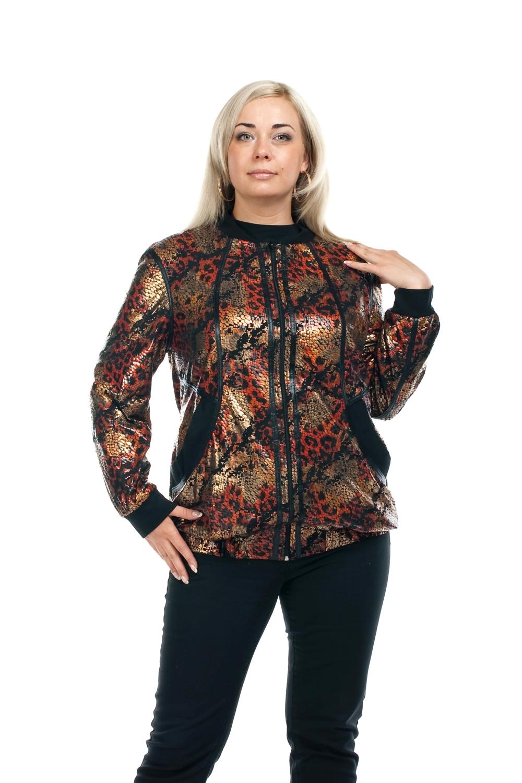 КурткаКуртки<br>Эффектная женская куртка с длинными рукавами. Модель выполнена из блестящего материала. Отличный выбор для повседневного гардероба.  Цвет: бежевый, оранжевый, черный  Рост девушки-фотомодели 173 см<br><br>Воротник: Стойка<br>По длине: Короткие<br>По образу: Город<br>По рисунку: Рептилия,Цветные<br>По сезону: Весна,Осень<br>По форме: Ветровка,Кожаная куртка<br>По элементам: С карманами<br>Рукав: Длинный рукав<br>По силуэту: Полуприталенные<br>По стилю: Повседневный стиль<br>Застежка: С молнией<br>Размер : 52,54,56,58,60,62,68,70<br>Материал: Полиэстер<br>Количество в наличии: 2