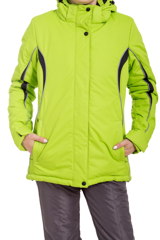КурткаКуртки<br>Яркая куртка в спортивном стиле. Модель выполнена из плотной болоньи. Отличный выбор для занятий спортом или активного отдыха.  В изделии использованы цвета: салатовый, черный, серый  Ростовка изделия 170 см.<br><br>Воротник: Стойка<br>Застежка: С кнопками,С молнией<br>По длине: Средней длины<br>По материалу: Тканевые<br>По образу: Город,Спорт<br>По рисунку: Цветные<br>По силуэту: Полуприталенные<br>По стилю: Спортивный стиль<br>По элементам: С капюшоном,С карманами<br>Рукав: Длинный рукав<br>По сезону: Осень,Весна<br>Размер : 42,44,46,48,50,52<br>Материал: Болонья<br>Количество в наличии: 6