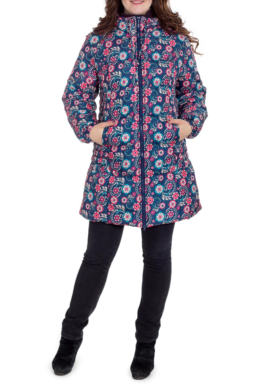 КурткаКуртки для будущих мам<br>Тёплая зимняя удлинённая куртка, используется новый высококачественный утеплитель, изготовленный по европейским  технологиям, на новейшем импортном оборудовании. Сохраняет форму после стирки, экологичный и  быстро высыхает. Долгое время сохраняет теплозащитные свойства, очень эффективен при низких температурах. Куртка спортивного стиля модной расцветки со стёганными бочками. Модель с втачным рукавом диагональной стёжки, капюшоном, застёжка на молнию, снабжена наружными карманами. Отлично сидит на фигуре, подходит на любой срок беременности и после родов.  Парамеры изделия (замеры для 42 размера): Длина изделия: по спинке 85 см  Длина рукава: 65 см Обхват по линии талии: 130 см ( в растянутом состоянии)  Температурный режим: от +0С до -25С  В изделии использованы цвета: синий, розовый, голубой и др.  Рост девушки-фотомодели 180 см.<br><br>Воротник: Стойка<br>По материалу: Плащевая ткань<br>По рисунку: Растительные мотивы,С принтом,Цветные,Цветочные<br>По силуэту: Полуприталенные<br>По стилю: Повседневный стиль,Спортивный стиль<br>По элементам: С капюшоном,С карманами,С манжетами<br>Рукав: Длинный рукав<br>По сезону: Зима<br>По длине: Средней длины<br>Размер : 52<br>Материал: Болонья<br>Количество в наличии: 2