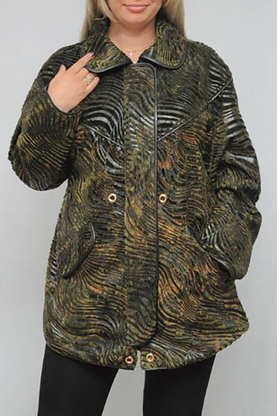 КурткаКуртки<br>Замечательная куртка с длинными рукавами. Модель выполнена из интересного материала с животным принтом. Отличный выбор для повседневного гардероба.  Цвет: зеленый и др.  Рост девушки-фотомодели 173 см.<br><br>Воротник: Отложной<br>По длине: Средней длины<br>По материалу: Тканевые<br>По рисунку: Животные мотивы,Зебра,Фактурный рисунок<br>По силуэту: Полуприталенные<br>По стилю: Повседневный стиль<br>По форме: Ветровка<br>По элементам: С карманами<br>Рукав: Длинный рукав<br>По сезону: Осень,Весна<br>Размер : 52,54<br>Материал: Полиэстер<br>Количество в наличии: 2
