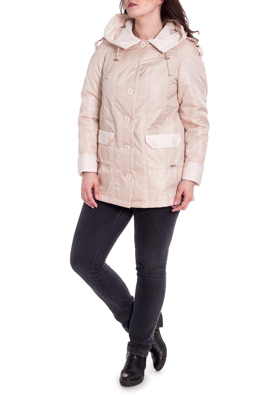 КурткаКуртки<br>Классическая женская куртка с застежкой на пуговицы, длинными рукавами и капюшоном. Отличный выбор для демисезонного периода.  Цвет: сливочный  Рост девушки-фотомодели 180 см<br><br>Застежка: С пуговицами<br>По длине: Средней длины<br>По материалу: Тканевые<br>По рисунку: Однотонные<br>По силуэту: Полуприталенные<br>По стилю: Повседневный стиль<br>По элементам: С капюшоном,С карманами<br>Рукав: Длинный рукав<br>По сезону: Осень,Весна<br>Размер : 50,52,54,56,58,60,62,64,66,68,70,72,74,76,78,80<br>Материал: Плащевая ткань<br>Количество в наличии: 16