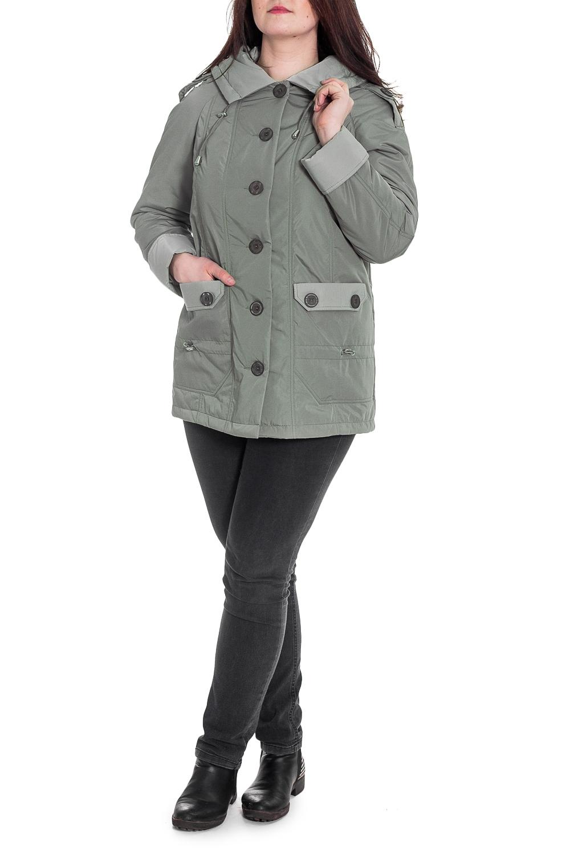 КурткаКуртки<br>Классическая женская куртка с застежкой на пуговицы, длинными рукавами и капюшоном. Отличный выбор для демисезонного периода.  Цвет: серый  Рост девушки-фотомодели 180 см<br><br>Застежка: С пуговицами<br>По длине: Средней длины<br>По материалу: Тканевые<br>По рисунку: Однотонные<br>По силуэту: Полуприталенные<br>По стилю: Повседневный стиль<br>По элементам: С капюшоном,С карманами<br>Рукав: Длинный рукав<br>По сезону: Осень,Весна<br>Размер : 50,52,60,62,66,68,72,74,76,78,80<br>Материал: Плащевая ткань<br>Количество в наличии: 11