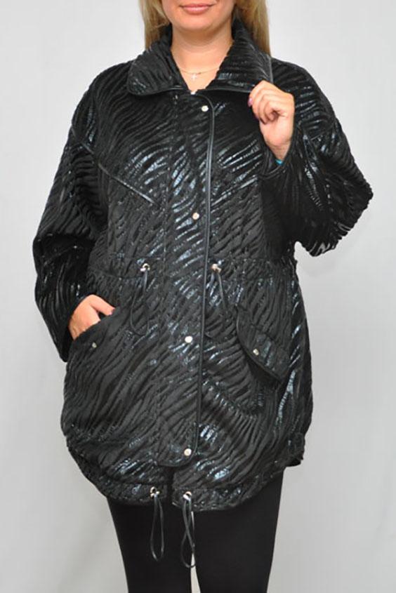 КурткаКуртки<br>Замечательная куртка с длинными рукавами. Модель выполнена из интересного материала с животным принтом. Отличный выбор для повседневного гардероба.  Цвет: черный  Рост девушки-фотомодели 173 см.<br><br>Воротник: Отложной<br>Застежка: С молнией<br>По длине: Средней длины<br>По материалу: Тканевые<br>По рисунку: Животные мотивы,Зебра,Фактурный рисунок<br>По силуэту: Полуприталенные<br>По стилю: Повседневный стиль<br>По форме: Ветровка<br>По элементам: С карманами<br>Рукав: Длинный рукав<br>По сезону: Осень,Весна<br>Размер : 54,56<br>Материал: Полиэстер<br>Количество в наличии: 4