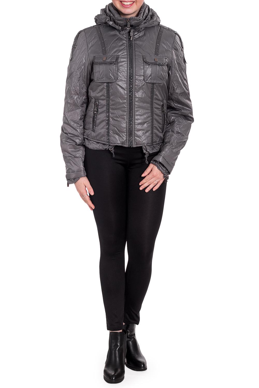КурткаКуртки<br>Укороченная куртка с длинными рукавами. Модель выполнена из плотной болоньи. Отличный вариант для повседневного гардероба.  Цвет: серый  Рост девушки-фотомодели 170 см<br><br>Воротник: Стойка<br>Застежка: С кнопками,С молнией<br>По длине: Короткие<br>По материалу: Плащевая ткань<br>По образу: Город<br>По рисунку: Однотонные<br>По силуэту: Полуприталенные<br>По стилю: Повседневный стиль<br>По элементам: С карманами,С отделочной фурнитурой<br>Рукав: Длинный рукав<br>По сезону: Осень,Весна<br>Размер : 42,46,48<br>Материал: Болонья<br>Количество в наличии: 3