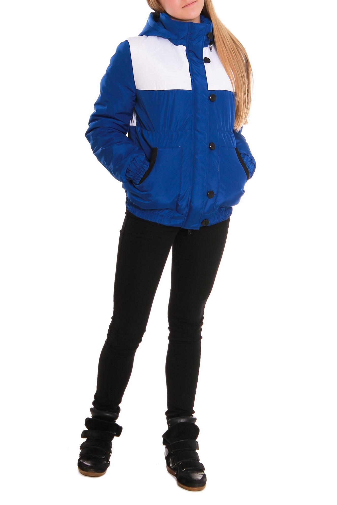 КурткаКуртки<br>Куртка прямого силуэта с кокетками на передней и задней частях изделия. Накладные карманы, вход окантован. Застежка на молнию, с планкой и пуговицами. Низ изделия и рукава на резинке. Капюшон на разъемной молнии, Воротник quot;стойкаquot;. Рукав втачной, двушовный.  Утеплитель - Termofinn – это новый продукт текстильной промышленности на российском рынке, как результат качественного совмещения финских технологий с отечественным производством.  Termofinn - очень мягкий и теплый, эффективен при низких температурах, быстро высыхает, отлично сохраняет форму после стирки, экологичный и безопасный.  Длина рукава - 62 см  Длина изделия - 66 ± 2 см<br><br>Воротник: Стойка<br>По длине: Короткие<br>По материалу: Плащевая ткань<br>По рисунку: Цветные<br>По сезону: Весна,Осень<br>По элементам: С воротником,С декором,С капюшоном,С карманами,С манжетами<br>Рукав: Длинный рукав<br>По стилю: Молодежный стиль,Повседневный стиль<br>Застежка: С молнией<br>Размер : 44,46,48,50<br>Материал: Плащевая ткань<br>Количество в наличии: 7