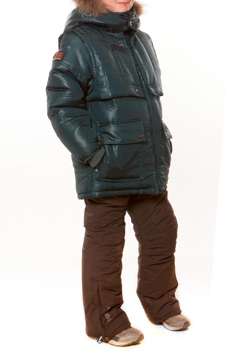 КурткаВерхняя одежда<br>Теплая куртка для мальчика. Опушка из натурального меха. Отстегивающаяся жилетка, внутренние карманы. Опушка на капюшоне – натуральный енот. Ткань верха: курточная, 100% полиэстер Подкладка: искусственный мех, 100% полиэстер Утеплитель: холлофан 300  Цвет: зеленый  Размер 104 соответствует росту 98-104 см Размер 110 соответствует росту 105-110 см Размер 116 соответствует росту 111-116 см Размер 122 соответствует росту 117-122 см Размер 128 соответствует росту 123-128 см Размер 134 соответствует росту 129-134 см Размер 140 соответствует росту 135-140 см Размер 146 соответствует росту 141-146 см Размер 152 соответствует росту 147-152 см Размер 158 соответствует росту 153-158 см Размер 164 соответствует росту 159-164 см Размер 170 соответствует росту 165-170 см<br><br>По возрасту: Дошкольные ( от 3 до 7 лет),Школьные ( от 7 до 13 лет)<br>По длине: Миди<br>По образу: Повседневные<br>По рисунку: Однотонные<br>По сезону: Зима<br>По силуэту: Полуприталенные<br>По элементам: С карманами,С молнией<br>Рукав: Длинный рукав<br>Воротник: Стояче-отложной<br>Размер : 122,128<br>Материал: Болонья<br>Количество в наличии: 2