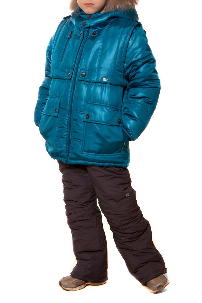 КурткаВерхняя одежда<br>Теплая куртка для мальчика. Опушка из натурального меха. Отстегивающаяся жилетка, внутренние карманы. Опушка на капюшоне – натуральный енот. Ткань верха: курточная, 100% полиэстер Подкладка: искусственный мех, 100% полиэстер Утеплитель: холлофан 300  Цвет: голубой  Размер 104 соответствует росту 98-104 см Размер 110 соответствует росту 105-110 см Размер 116 соответствует росту 111-116 см Размер 122 соответствует росту 117-122 см Размер 128 соответствует росту 123-128 см Размер 134 соответствует росту 129-134 см Размер 140 соответствует росту 135-140 см Размер 146 соответствует росту 141-146 см Размер 152 соответствует росту 147-152 см Размер 158 соответствует росту 153-158 см Размер 164 соответствует росту 159-164 см Размер 170 соответствует росту 165-170 см<br><br>По возрасту: Дошкольные ( от 3 до 7 лет),Школьные ( от 7 до 13 лет)<br>По длине: Миди<br>По образу: Повседневные<br>По рисунку: Однотонные<br>По сезону: Зима<br>По силуэту: Полуприталенные<br>По элементам: С карманами,С молнией<br>Рукав: Длинный рукав<br>Воротник: Стояче-отложной<br>Размер : 122,128,134,140,146<br>Материал: Болонья<br>Количество в наличии: 5