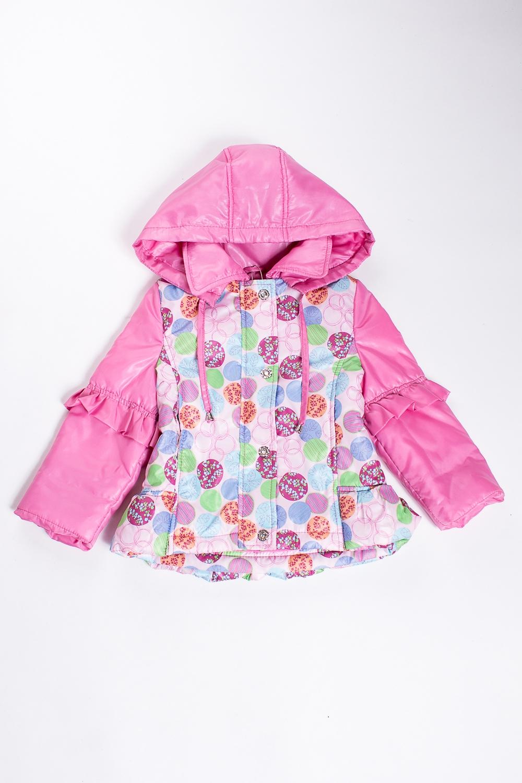 КурткаВерхняя одежда<br>Яркая куртка, несомненно придется по душе маленькой моднице. Куртка имеет два кармашка, капюшон и декоративные воланы. Застежка спереди на молнию. Пальто выполнено из непродуваемой и непромокаемой ткани.  В изделии использованы цвета: розовый и др  Размер 74 соответствует росту 70-73 см Размер 80 соответствует росту 74-80 см Размер 86 соответствует росту 81-86 см Размер 92 соответствует росту 87-92 см Размер 98 соответствует росту 93-98 см Размер 104 соответствует росту 98-104 см Размер 110 соответствует росту 105-110 см Размер 116 соответствует росту 111-116 см Размер 122 соответствует росту 117-122 см Размер 128 соответствует росту 123-128 см Размер 134 соответствует росту 129-134 см Размер 140 соответствует росту 135-140 см Размер 146 соответствует росту 141-146 см Размер 152 соответствует росту 147-152 см Размер 158 соответствует росту 153-158 см Размер 164 соответствует росту 159-164 см<br><br>Воротник: Отложной<br>По возрасту: Ясельные ( от 1 до 3 лет),Дошкольные ( от 3 до 7 лет)<br>По длине: Короткие<br>По материалу: Плащевая ткань<br>По образу: Повседневные<br>По рисунку: С принтом (печатью),Цветные<br>По силуэту: Полуприталенные<br>По элементам: С воланами,С декором,С капюшоном,С карманами<br>Рукав: Длинный рукав<br>По сезону: Осень,Весна<br>Размер : 104,110,98<br>Материал: Болонья<br>Количество в наличии: 3