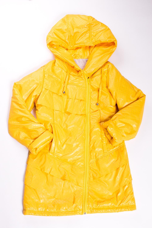 ПальтоВерхняя одежда<br>Яркое пальто, несомненно придется по душе маленькой моднице. Пальто имеет два кармашка, капюшон и декоративную отделку. Пальто спереди застегивается на молнию. Модель выполнена из непродуваемой и непромокаемой ткани.  В изделии использованы цвета: желтый  Размер 74 соответствует росту 70-73 см Размер 80 соответствует росту 74-80 см Размер 86 соответствует росту 81-86 см Размер 92 соответствует росту 87-92 см Размер 98 соответствует росту 93-98 см Размер 104 соответствует росту 98-104 см Размер 110 соответствует росту 105-110 см Размер 116 соответствует росту 111-116 см Размер 122 соответствует росту 117-122 см Размер 128 соответствует росту 123-128 см Размер 134 соответствует росту 129-134 см Размер 140 соответствует росту 135-140 см Размер 146 соответствует росту 141-146 см Размер 152 соответствует росту 147-152 см Размер 158 соответствует росту 153-158 см Размер 164 соответствует росту 159-164 см<br><br>Воротник: Стойка<br>По возрасту: Школьные ( от 7 до 13 лет)<br>По длине: Миди<br>По образу: Повседневные<br>По рисунку: Однотонные<br>По силуэту: Полуприталенные<br>По элементам: С воланами,С капюшоном,С карманами<br>Рукав: Длинный рукав<br>По сезону: Осень,Весна<br>Размер : 134,140,152<br>Материал: Болонья<br>Количество в наличии: 3