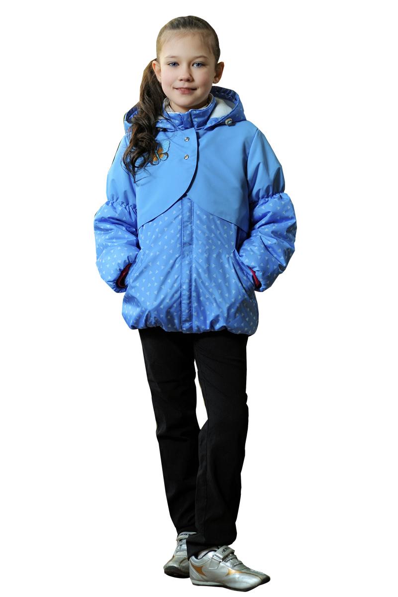 КурткаВерхняя одежда<br>Куртка утеплённая для девочки из водоотталкивающего материала, с капюшоном и воротником-стойка. Застёжка молния скрыта ветрозащитной планкой. Накладная кокетка на кнопках. Низ изделия и рукава на сборке.  Верхняя ткань - полиэстер 100%  Подкладка - флис Наполнитель - синтепон  В изделии использованы цвета: голубой и др.  Размер 74 соответствует росту 70-73 см Размер 80 соответствует росту 74-80 см Размер 86 соответствует росту 81-86 см Размер 92 соответствует росту 87-92 см Размер 98 соответствует росту 93-98 см Размер 104 соответствует росту 98-104 см Размер 110 соответствует росту 105-110 см Размер 116 соответствует росту 111-116 см Размер 122 соответствует росту 117-122 см Размер 128 соответствует росту 123-128 см Размер 134 соответствует росту 129-134 см Размер 140 соответствует росту 135-140 см<br><br>Воротник: Стойка<br>По возрасту: Дошкольные ( от 3 до 7 лет)<br>По длине: Миди<br>По материалу: Плащевая ткань<br>По образу: Повседневные<br>По рисунку: С принтом (печатью),Цветные<br>По силуэту: Полуприталенные<br>По элементам: С декором,С капюшоном,С карманами,С молнией,С подкладом<br>Рукав: Длинный рукав<br>По сезону: Осень,Весна<br>Размер : 116,122<br>Материал: Болонья<br>Количество в наличии: 2