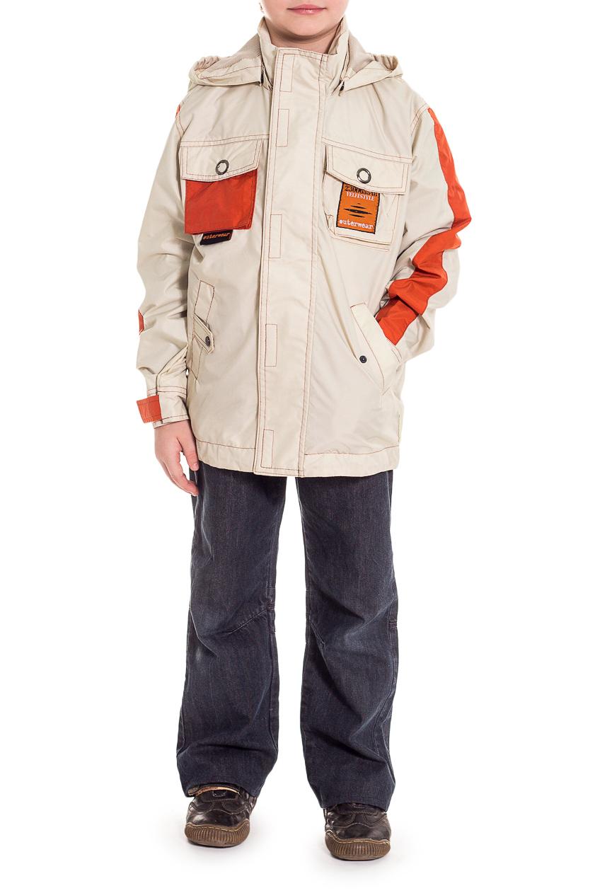 КурткаВерхняя одежда<br>Универсальная куртка, которую можно использовать прохладными летними днями или теплой весной. Центральная застежка - молния.  Ткань верха: курточная Подкладка – 100% полиэстер.  Размер 104 соответствует росту 98-104 см Размер 110 соответствует росту 105-110 см Размер 116 соответствует росту 111-116 см Размер 122 соответствует росту 117-122 см Размер 128 соответствует росту 123-128 см Размер 134 соответствует росту 129-134 см Размер 140 соответствует росту 135-140 см Размер 146 соответствует росту 141-146 см Размер 152 соответствует росту 147-152 см Размер 158 соответствует росту 153-158 см Размер 164 соответствует росту 159-164 см Размер 170 соответствует росту 165-170 см  Цвет: бежевый, оранжевый<br><br>Воротник: Стойка<br>По возрасту: Дошкольные ( от 3 до 7 лет)<br>По материалу: Плащевая ткань<br>По образу: Повседневные<br>По рисунку: Однотонные<br>По силуэту: Полуприталенные<br>По форме: Ветровка<br>По элементам: С декором,С карманами,С молнией,С подкладом<br>Рукав: Длинный рукав<br>По сезону: Осень,Весна<br>Размер : 128<br>Материал: Плащевая ткань<br>Количество в наличии: 1