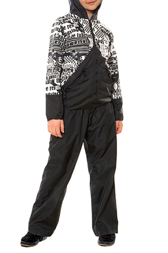 КурткаВерхняя одежда<br>Универсальная куртка, может комплектоваться с летними спортивными брюками. Центральная молния полностью застегивает капюшон.  Ткань верха: курточная, водоотталкивающая Подкладка: Сетка, рукава – 100% полиэстер.  Размер 104 соответствует росту 98-104 см Размер 110 соответствует росту 105-110 см Размер 116 соответствует росту 111-116 см Размер 122 соответствует росту 117-122 см Размер 128 соответствует росту 123-128 см Размер 134 соответствует росту 129-134 см Размер 140 соответствует росту 135-140 см Размер 146 соответствует росту 141-146 см Размер 152 соответствует росту 147-152 см Размер 158 соответствует росту 153-158 см Размер 164 соответствует росту 159-164 см Размер 170 соответствует росту 165-170 см  Цвет: черный, белый<br><br>По длине: Миди<br>По материалу: Плащевая ткань<br>По образу: Повседневные,Спорт<br>По рисунку: Цветные<br>По элементам: С карманами,С молнией<br>Рукав: Длинный рукав<br>По возрасту: Школьные ( от 7 до 13 лет)<br>По сезону: Осень,Весна<br>Размер : 134,140,146,152,158,164<br>Материал: Плащевая ткань<br>Количество в наличии: 8
