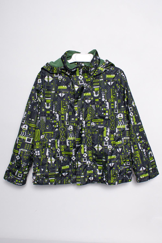 ВетровкаВерхняя одежда<br>Ветровка для мальчика на флисе с капюшоном и воротником-стойка. Застёжка-молния с ветрозащитной планкой. Низ изделия фиксируется кулисой с утяжками.  Верхняя ткань - полиэстер 100%  Подкладка - флис  В изделии использованы цвета: серый, зеленый и др.  Размер 74 соответствует росту 70-73 см Размер 80 соответствует росту 74-80 см Размер 86 соответствует росту 81-86 см Размер 92 соответствует росту 87-92 см Размер 98 соответствует росту 93-98 см Размер 104 соответствует росту 98-104 см Размер 110 соответствует росту 105-110 см Размер 116 соответствует росту 111-116 см Размер 122 соответствует росту 117-122 см Размер 128 соответствует росту 123-128 см Размер 134 соответствует росту 129-134 см Размер 140 соответствует росту 135-140 см<br><br>Воротник: Стойка<br>По возрасту: Ясельные ( от 1 до 3 лет),Дошкольные ( от 3 до 7 лет)<br>По длине: Миди<br>По материалу: Плащевая ткань<br>По образу: Повседневные<br>По рисунку: С принтом (печатью),Цветные<br>По силуэту: Полуприталенные<br>По элементам: С капюшоном,С карманами,С подкладом<br>Рукав: Длинный рукав<br>По сезону: Осень,Весна<br>Размер : 104,110<br>Материал: Плащевая ткань<br>Количество в наличии: 2