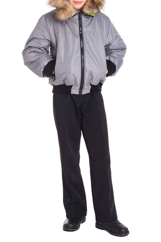 КурткаВерхняя одежда<br>Теплая, удобная и симпатичная куртка несомненно понравится и вам и вашему ребенку. Модель спереди застегивается на молнию с внутренней ветрозащитной планкой, имеет трикотажные пояс и манжеты, два боковых кармана на молнии, опушка из искуственного меха отстегивается. Ткань верха ветро и влагозащитная. Утеплитель нового поколения - силиконизированный термофайбер его отличительное свойство – это способность сохранять свои внешние параметры после стирки и функциональные способности в процессе эксплуатации. Такой наполнитель не впитывает влагу, а элементарно сбрасывает ее (гигроскопичность не превышает 1%), не поддерживает горение.  Цвет: серый, черный  Размер 74 соответствует росту 70-73 см Размер 80 соответствует росту 74-80 см Размер 86 соответствует росту 81-86 см Размер 92 соответствует росту 87-92 см Размер 98 соответствует росту 93-98 см Размер 104 соответствует росту 98-104 см Размер 110 соответствует росту 105-110 см Размер 116 соответствует росту 111-116 см Размер 122 соответствует росту 117-122 см Размер 128 соответствует росту 123-128 см Размер 134 соответствует росту 129-134 см Размер 140 соответствует росту 135-140 см Размер 146 соответствует росту 141-146 см Размер 152 соответствует росту 147-152 см Размер 158 соответствует росту 153-158 см Размер 164 соответствует росту 159-164 см<br><br>Воротник: Стойка<br>По возрасту: Школьные ( от 7 до 13 лет),Подростковые ( от 13 до 16 лет)<br>По материалу: Плащевая ткань<br>По образу: Повседневные,Спорт<br>По рисунку: Однотонные<br>По сезону: Зима<br>По силуэту: Полуприталенные<br>По элементам: С карманами,С молнией<br>Рукав: Длинный рукав<br>Размер : 128,134,152<br>Материал: Полиамид<br>Количество в наличии: 3