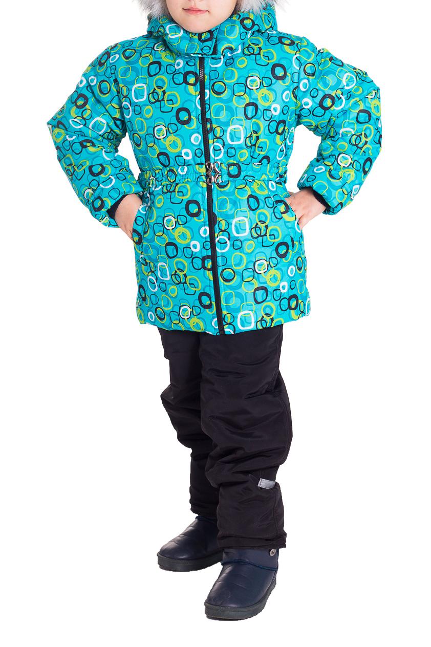 Костюм (Куртка+Полукомбинезон)Верхняя одежда<br>Очень красивый комплект, несомненно придется по душе маленькой моднице. Куртка имеет два глубоких кармашка по бокам, капюшон отстегивается, регулируется кулиской, отделка из искуственного меха, имеет снегозащитные манжеты. Куртка дополнительно утеплена флисом, спереди застегивается на молнию, дополнена декоративным поясом на резинке, который по бокам пристегивается на кнопки, имеется защита от защелемления подбородка. Полукомбинезон так же утеплен флисом, спереди застегивается на молнию закрытую широкой планкой, которая застегивается на липучку и металлическую кнопку, эластичные бретели регулируются по длине и крепятся на липучку, что способствует их легкому отсоеденению, имеется чулок на обувь. На талии предусмотрена широкая эластичная резинка, которая позволяет надежно заправить в него водолазку или свитер, дополнительно резинка регулируется по талии ребенка. Комплект выполнен из непродуваемой и непромокаемой ткани. Составверх - Дьюспо (полиамид 100%), подкладка - Флис (полиэстер 100%) , утеплитель - термофайбер 300, п/к 150 г/м  Цвет: бирюзовый, черный, желтый, голубой, белый  Размер 74 соответствует росту 70-73 см Размер 80 соответствует росту 74-80 см Размер 86 соответствует росту 81-86 см Размер 92 соответствует росту 87-92 см Размер 98 соответствует росту 93-98 см Размер 104 соответствует росту 98-104 см Размер 110 соответствует росту 105-110 см Размер 116 соответствует росту 111-116 см Размер 122 соответствует росту 117-122 см Размер 128 соответствует росту 123-128 см Размер 134 соответствует росту 129-134 см Размер 140 соответствует росту 135-140 см Размер 146 соответствует росту 141-146 см Размер 152 соответствует росту 147-152 см Размер 158 соответствует росту 153-158 см Размер 164 соответствует росту 159-164 см<br><br>Воротник: Стойка<br>По возрасту: Дошкольные ( от 3 до 7 лет),Школьные ( от 7 до 13 лет)<br>По материалу: Тканевые<br>По образу: Повседневные,Спорт<br>По рисунку: Абстракция,С принтом (печатью)