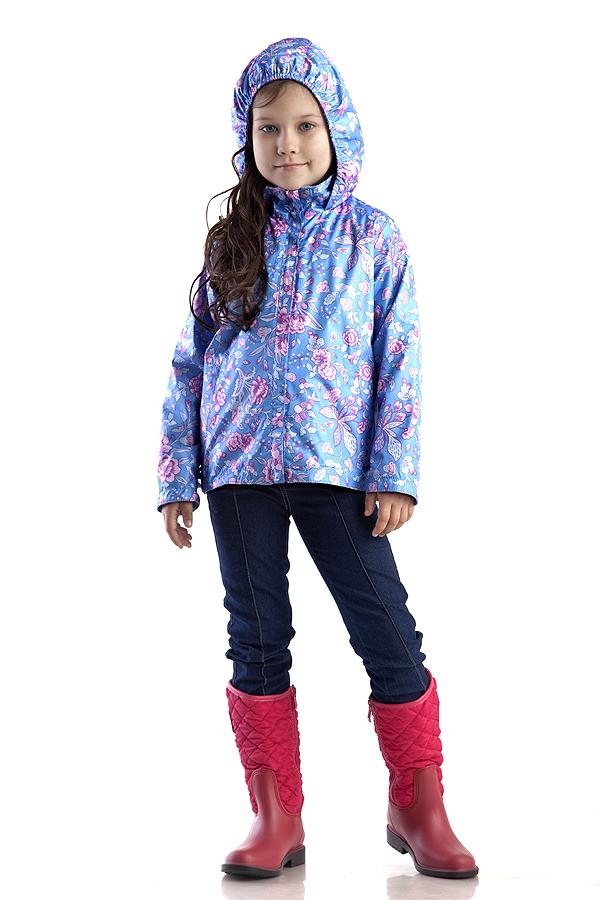 КурткаВерхняя одежда<br>Куртка для девочки с капюшоном. Застёжка-молния скрыта ветрозащитной планкой, по низу изделия кулиса с эластичной утяжкой.  Верхняя ткань - полиэстер 100%  Подкладка - флис  В изделии использованы цвета: голубой, розовый и др.  Размер 74 соответствует росту 70-73 см Размер 80 соответствует росту 74-80 см Размер 86 соответствует росту 81-86 см Размер 92 соответствует росту 87-92 см Размер 98 соответствует росту 93-98 см Размер 104 соответствует росту 98-104 см Размер 110 соответствует росту 105-110 см Размер 116 соответствует росту 111-116 см Размер 122 соответствует росту 117-122 см Размер 128 соответствует росту 123-128 см Размер 134 соответствует росту 129-134 см Размер 140 соответствует росту 135-140 см<br><br>Воротник: Стойка<br>По возрасту: Дошкольные ( от 3 до 7 лет),Школьные ( от 7 до 13 лет)<br>По длине: Миди<br>По материалу: Плащевая ткань<br>По образу: Повседневные<br>По рисунку: Растительные мотивы,С принтом (печатью),Цветные,Цветочные<br>По силуэту: Полуприталенные<br>По элементам: С капюшоном,С карманами,С манжетами,С молнией,С подкладом<br>Рукав: Длинный рукав<br>По сезону: Осень,Весна<br>Размер : 110,128<br>Материал: Плащевая ткань<br>Количество в наличии: 2