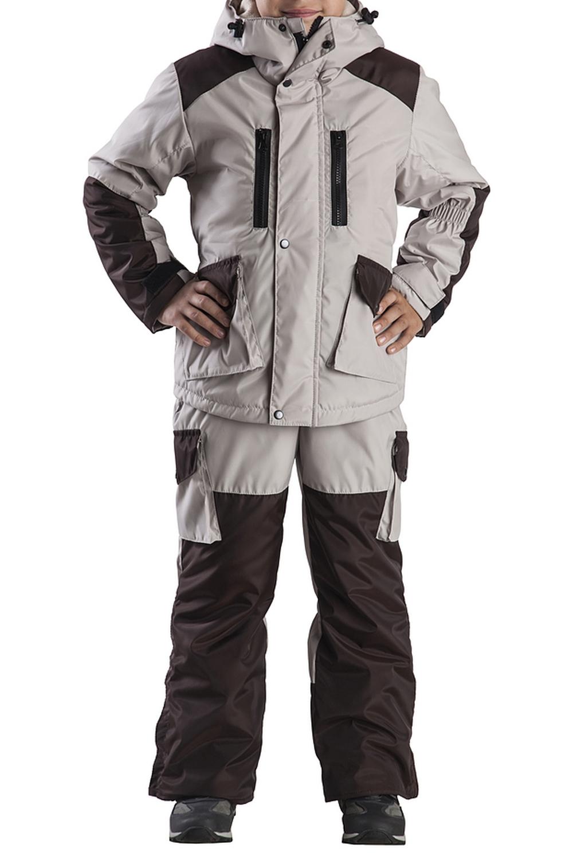 КостюмВерхняя одежда<br>Куртка имеет много функциональных карманов. Капюшон регулируется утяжками. Центральная застёжка-молния закрыта ветрозащитной планкой. По низу полукомбинезона молнии для удобства одевания обуви.  Верхняя ткань - полиэстер  Подкладка - полиэстер  Наполнитель - 100% синтепон  В изделии использованы цвета: коричневый  Размер 74 соответствует росту 70-73 см Размер 80 соответствует росту 74-80 см Размер 86 соответствует росту 81-86 см Размер 92 соответствует росту 87-92 см Размер 98 соответствует росту 93-98 см Размер 104 соответствует росту 98-104 см Размер 110 соответствует росту 105-110 см Размер 116 соответствует росту 111-116 см Размер 122 соответствует росту 117-122 см Размер 128 соответствует росту 123-128 см Размер 134 соответствует росту 129-134 см Размер 140 соответствует росту 135-140 см<br><br>Воротник: Стояче-отложной<br>По возрасту: Дошкольные ( от 3 до 7 лет),Школьные ( от 7 до 13 лет)<br>По материалу: Плащевая ткань,Синтепон<br>По образу: Повседневные<br>По рисунку: Однотонные<br>По стилю: Повседневные<br>По элементам: С капюшоном,С карманами,С молнией,С утеплителем<br>Рукав: Длинный рукав<br>По сезону: Осень,Весна<br>Размер : 116,122,128,140<br>Материал: Плащевая ткань<br>Количество в наличии: 4