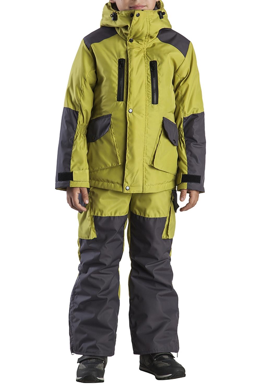 КостюмВерхняя одежда<br>Куртка имеет много функциональных карманов. Капюшон регулируется утяжками. Центральная застёжка-молния закрыта ветрозащитной планкой. По низу полукомбинезона молнии для удобства одевания обуви.  Верхняя ткань - полиэстер  Подкладка - полиэстер  Наполнитель - 100% синтепон  В изделии использованы цвета: зеленый, серый  Размер 74 соответствует росту 70-73 см Размер 80 соответствует росту 74-80 см Размер 86 соответствует росту 81-86 см Размер 92 соответствует росту 87-92 см Размер 98 соответствует росту 93-98 см Размер 104 соответствует росту 98-104 см Размер 110 соответствует росту 105-110 см Размер 116 соответствует росту 111-116 см Размер 122 соответствует росту 117-122 см Размер 128 соответствует росту 123-128 см Размер 134 соответствует росту 129-134 см Размер 140 соответствует росту 135-140 см<br><br>Воротник: Стояче-отложной<br>По возрасту: Дошкольные ( от 3 до 7 лет),Школьные ( от 7 до 13 лет)<br>По материалу: Плащевая ткань,Синтепон<br>По образу: Повседневные<br>По рисунку: Цветные<br>По стилю: Повседневные<br>По элементам: С капюшоном,С карманами,С молнией,С утеплителем<br>Рукав: Длинный рукав<br>По сезону: Осень,Весна<br>Размер : 116,122,140<br>Материал: Плащевая ткань<br>Количество в наличии: 3