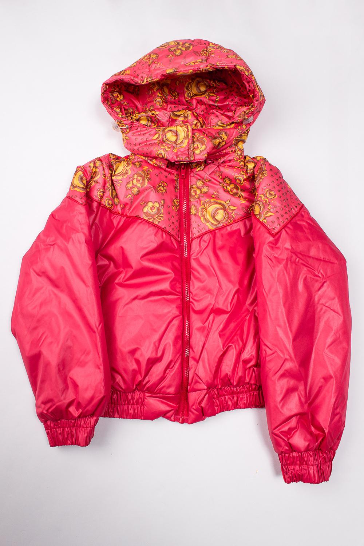 КурткаВерхняя одежда<br>Куртка демисезонная для девочки с контрастным принтом. Выполнена из влаго и ветрозащитной ткани, спереди застегивается на молнию, манжеты и пояс на резинке, имеет удобный глубокий капюшон и кармашки.  Верх - полиамид quot;Дьюспоquot;, подкладка - полиэстер, утеплитель - термофайбер 150 г/м  В изделии использованы цвета: красный, желтый и др.  Размер 74 соответствует росту 70-73 см Размер 80 соответствует росту 74-80 см Размер 86 соответствует росту 81-86 см Размер 92 соответствует росту 87-92 см Размер 98 соответствует росту 93-98 см Размер 104 соответствует росту 98-104 см Размер 110 соответствует росту 105-110 см Размер 116 соответствует росту 111-116 см Размер 122 соответствует росту 117-122 см Размер 128 соответствует росту 123-128 см Размер 134 соответствует росту 129-134 см Размер 140 соответствует росту 135-140 см Размер 146 соответствует росту 141-146 см Размер 152 соответствует росту 147-152 см Размер 158 соответствует росту 153-158 см<br><br>Воротник: Стойка<br>По возрасту: Школьные ( от 7 до 13 лет)<br>По длине: Короткие<br>По материалу: Плащевая ткань<br>По образу: Повседневные<br>По рисунку: Растительные мотивы,С принтом (печатью),Цветные<br>По силуэту: Полуприталенные<br>По элементам: С капюшоном,С карманами,С манжетами<br>Рукав: Длинный рукав<br>По сезону: Осень,Весна<br>Размер : 134,140,146,152,158<br>Материал: Болонья<br>Количество в наличии: 5
