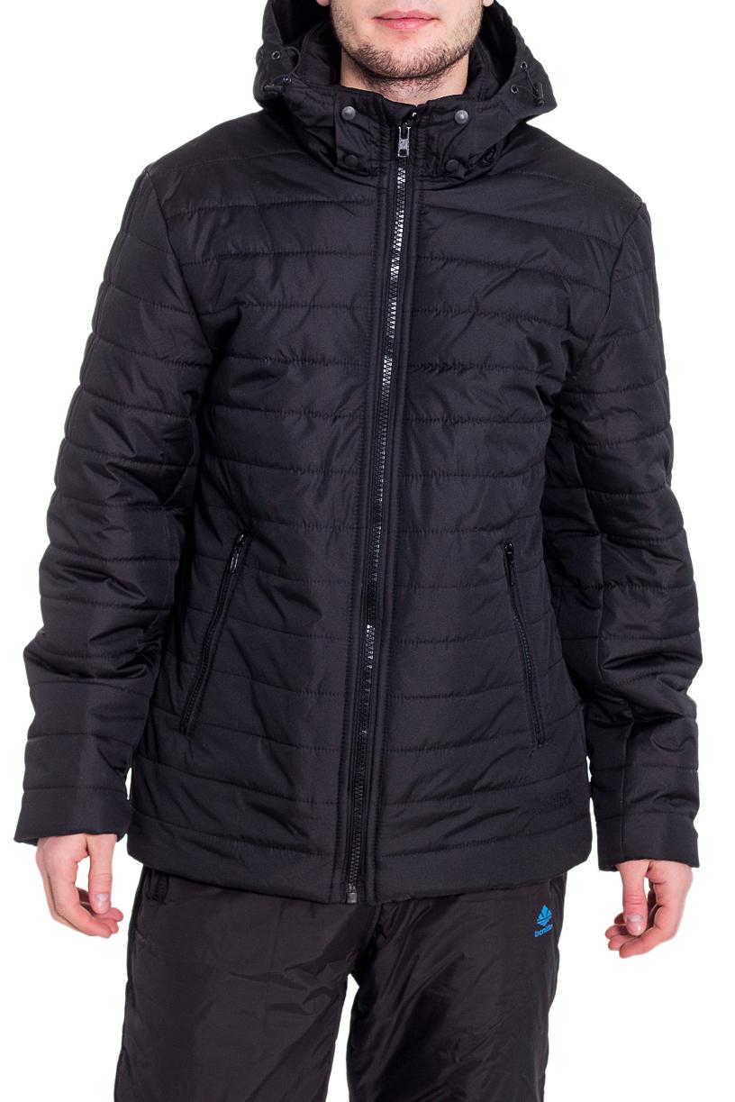 КурткаКуртки<br>Теплая куртка с капюшоном. Модель выполнена из непродуваемой ткани. Отличный выбор для повседневного гардероба.  Цвет: черный  Рост мужчины-фотомодели 182 см<br><br>По сезону: Осень,Весна<br>Размер : 48,50<br>Материал: Болонья<br>Количество в наличии: 3