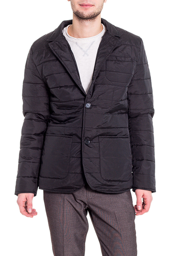 КурткаКуртки<br>Мужская куртка в деловом стиле. Модель выполнена из плотной болоньи.   Цвет: черный  Рост мужчины-фотомодели 182 см<br><br>По сезону: Осень,Весна<br>Размер : 46,48,50,54<br>Материал: Болонья<br>Количество в наличии: 4