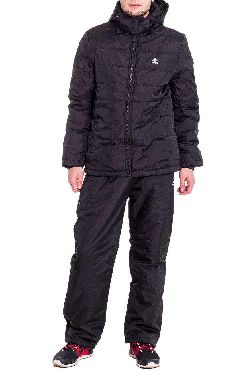КостюмКуртки<br>Мужской костюм состоит из куртки и брюк. Модель выполнена из плотной болоньи.   Цвет: черный  Рост мужчины-фотомодели 182 см<br><br>По сезону: Осень,Весна<br>Размер : 46,48,54,56<br>Материал: Болонья<br>Количество в наличии: 4