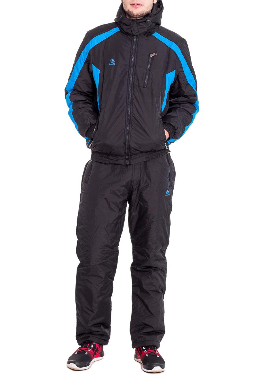 КостюмКуртки<br>Мужской костюм состоит из куртки и брюк. Модель выполнена из плотной болоньи.   Цвет: черный, голубой  Рост мужчины-фотомодели 182 см<br><br>По сезону: Осень,Весна<br>Размер : 48,54<br>Материал: Болонья<br>Количество в наличии: 2