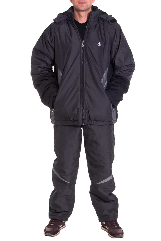 КостюмКуртки<br>Мужской костюм состоит из куртки и брюк. Модель выполнена из плотной болоньи.   Цвет: серый  Рост мужчины-фотомодели 177 см<br><br>По сезону: Осень,Весна<br>Размер : 48,50,54,56<br>Материал: Болонья<br>Количество в наличии: 4