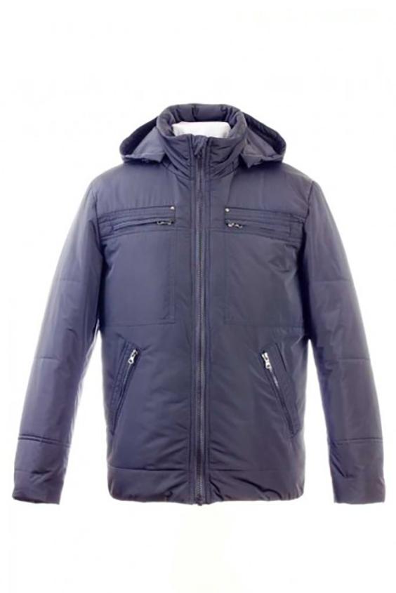 КурткаКуртки<br>Теплая куртка с капюшоном. Модель выполнена из непродуваемой ткани. Отличный выбор для повседневного гардероба.  Цвет: серый  Ростовка изделия 170 см<br><br>По сезону: Осень,Весна<br>Размер: 48,50,52,54<br>Материал: 100% полиэстер<br>Количество в наличии: 2