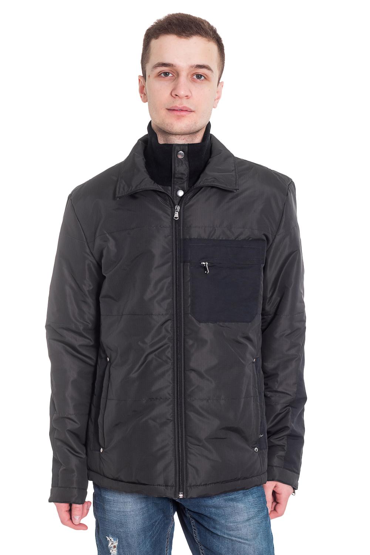 КурткаКуртки<br>Мужская куртка, воротник стойка, центральная молния, на полочках карманы. Утеплитель синтепон.   Цвет: черный  Рост мужчины-фотомодели 182 см<br><br>По сезону: Осень,Весна<br>Размер : 48,50,52,54,56,58<br>Материал: Болонья<br>Количество в наличии: 5