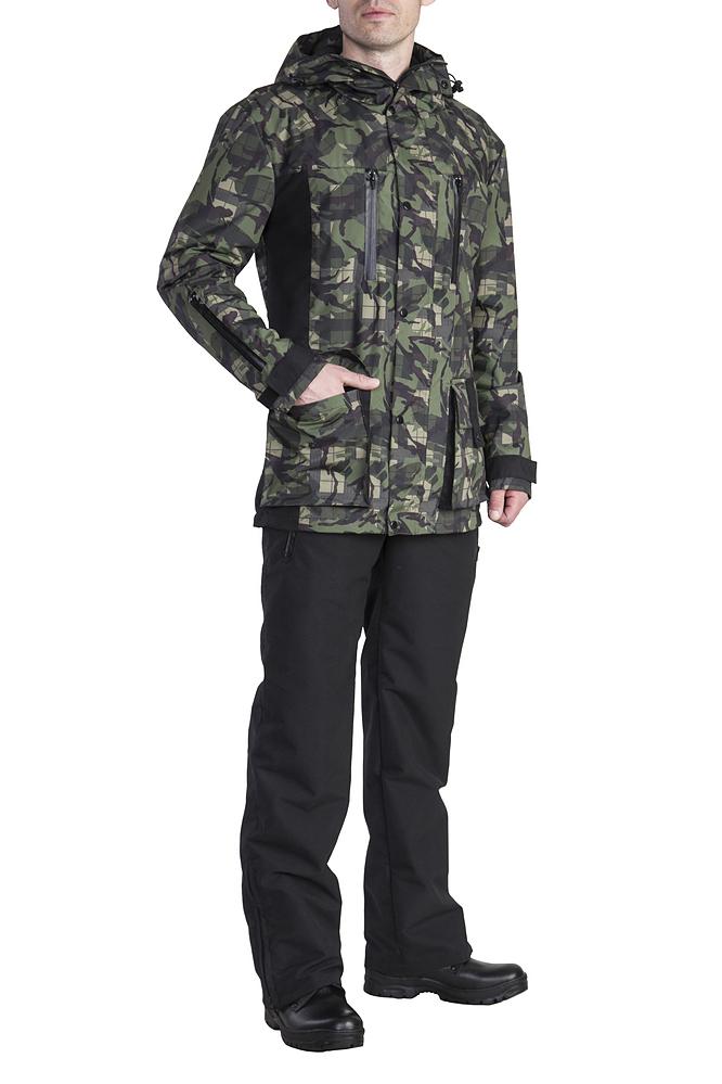 КостюмКуртки<br>Утеплённый комфортный костюм для зимней рыбалки, охоты и активного отдыха. Выполнен из ветронепродуваемой и водонепроницаемой мембранной ткани. Предназначен для защиты от пониженных температур, ветра, атмосферных осадков в зимний период. Отлично сидит на фигуре. Для удобства переобувания по низу штанин - расширитель на молнии с планкой. Костюм лёгкий по весу и удобный в эксплуатации.  Куртка ветрозащитная планка воротник-стойка боковые нагрудные карманы на молнии для согрева рук внутренние карманы на молнии для мобильного телефона и документов большие накладные карманы для мелочей капюшон анатомического кроя с утяжкой по обзору  Брюки эластичная резинка по талии застёжка-гульфик два набедренных кармана расширитель в нижней части штанин с планкой на молнии  В изделии использованы цвета: серый и др.  Ростовка изделия до размеров 44-46 176 см. Ростовка изделия с размеров 48-50 182 см.<br><br>По сезону: Зима<br>Размер : 44-46,52-54,56-58,60-62<br>Материал: Плащевая ткань<br>Количество в наличии: 4